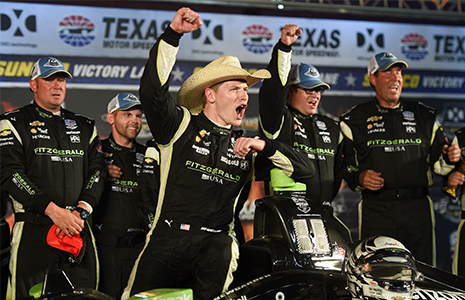 Josef Newgarden and crew in Texas victory lane