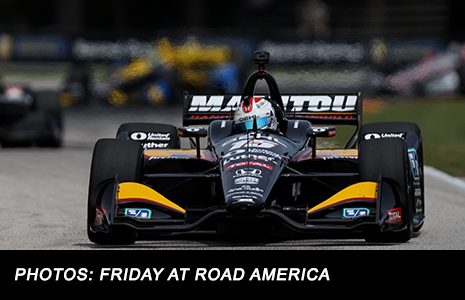 Graham Rahal on track Road America