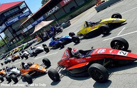 Lucas Oil School of Racing cars