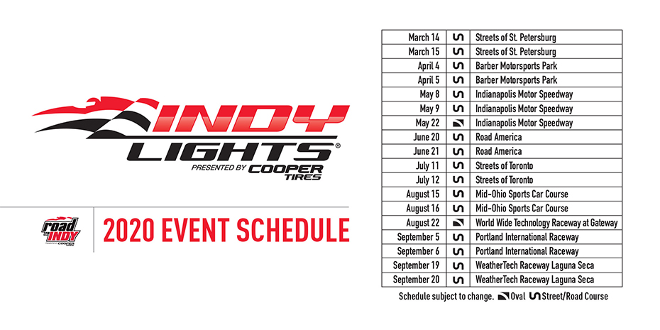 Indianapolis Events March 2020.Road To Indy 2020 Schedules Announced