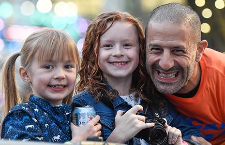 Poppy and Tilly Dixon with Tony Kanaan