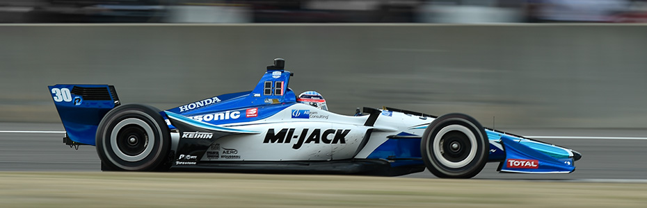 Takuma Sato winning at Barber Motorsports Park in 2019