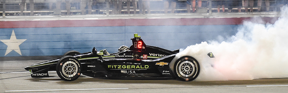 Josef Newgarden winning the race at Texas Motor Speedway