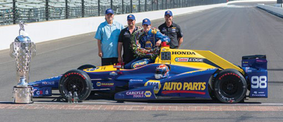 Mike Curb with Andretti  Herta Autosport and Alexander Rossi.