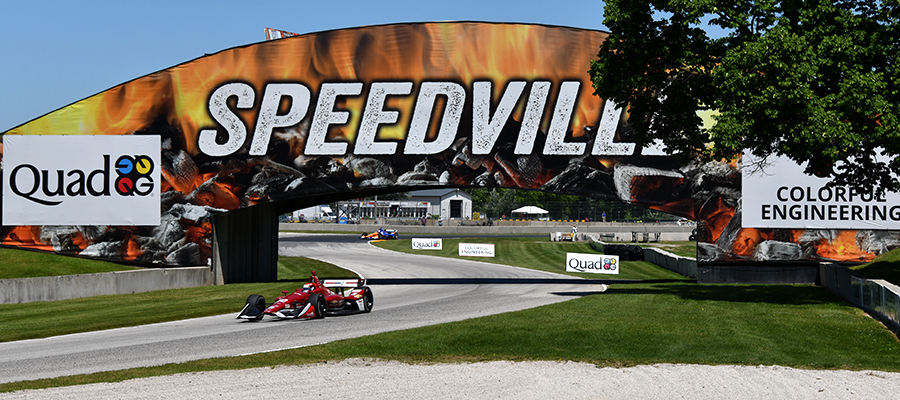 Cars on track at Road America.