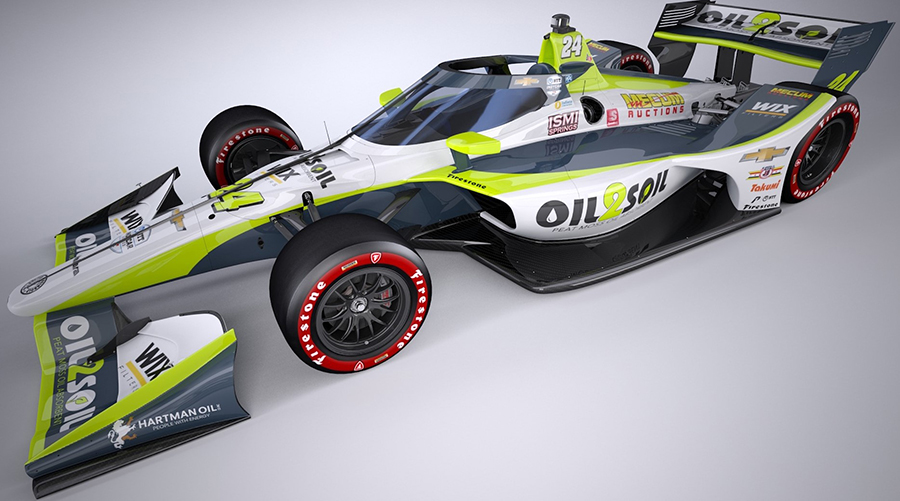 Sage Karam's car for the  INDYCAR Harvest GP