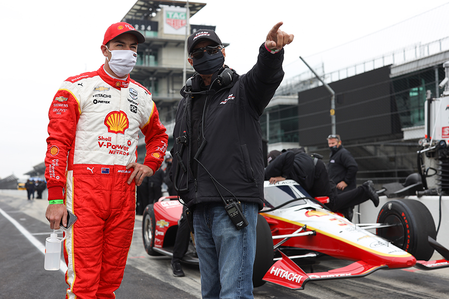Scott McLaughlin and Rick Mears