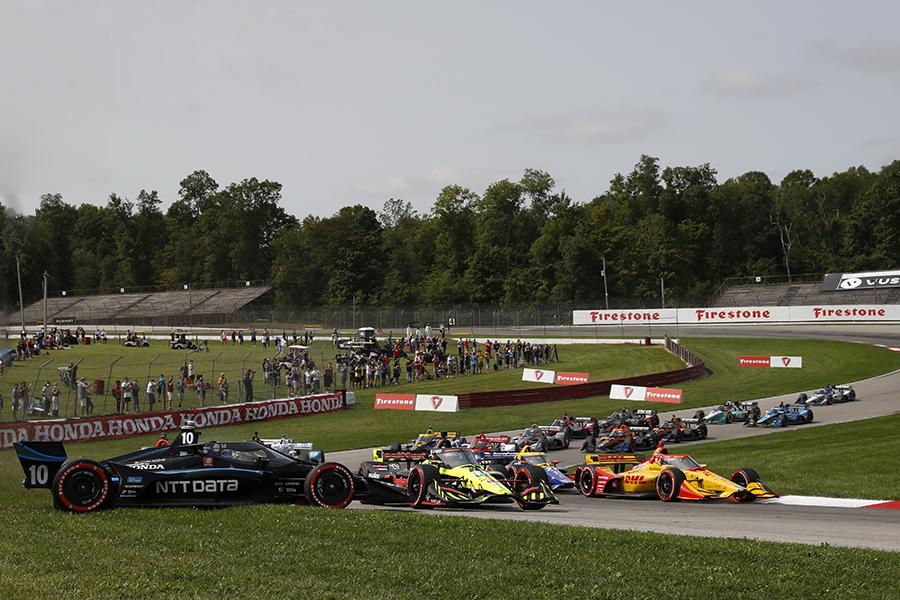 Felix Rosenqvist slides off track