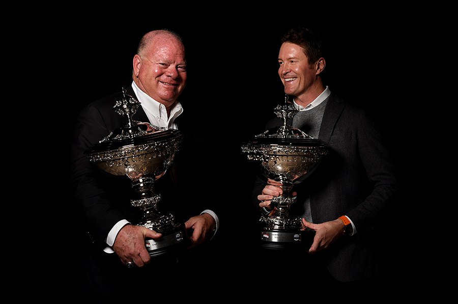 Chip Ganassi and Scott Dixon studio shot