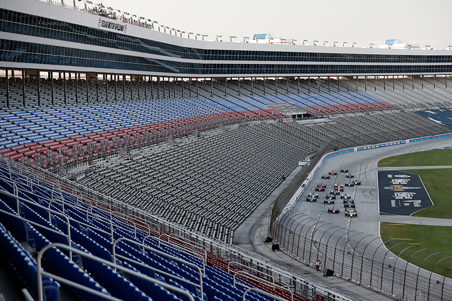 Empty stands at start of Texas race