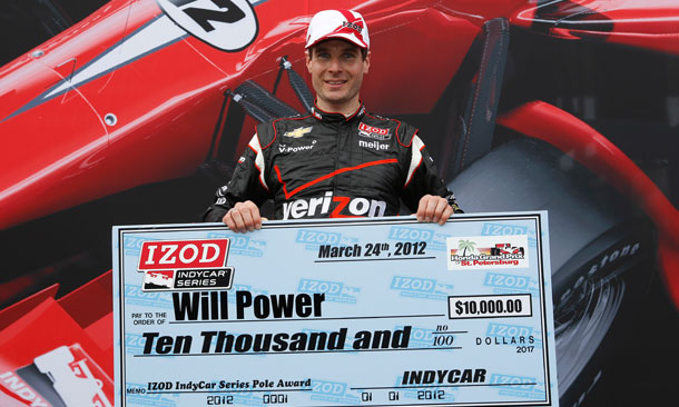 Will Power wins Pole at St. Pete
