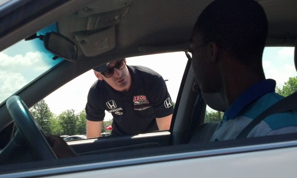 Pagenaud instructing young drivers