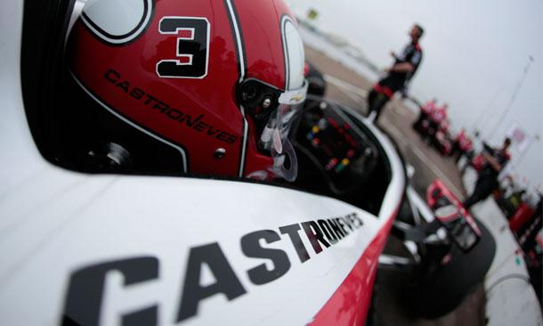 Helio Castroneves in Pit Lane at St. Pete