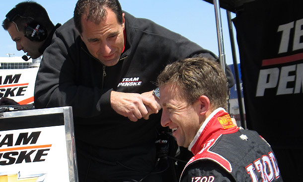 AJ Allmendinger with Ron Ruzewski