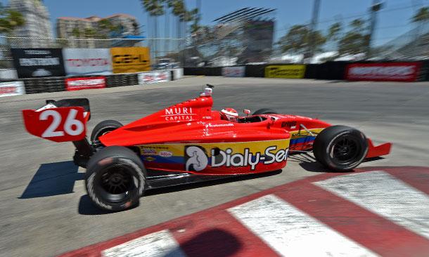 Carlos Munoz leads Practice 1 at Long Beach
