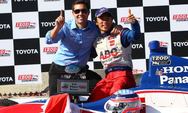 Takuma Sato and Larry Foyt