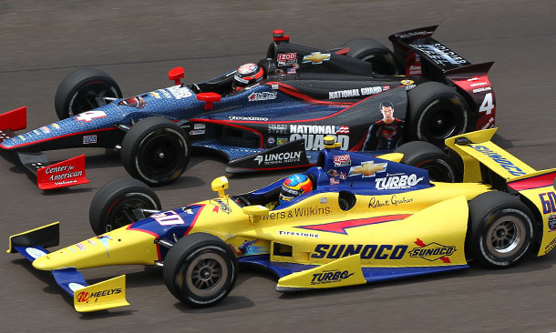JR Hildebrand and Townsend Bell at IMS