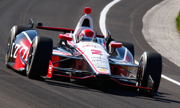 AJ Allmendinger at Indianapolis Motor Speedway