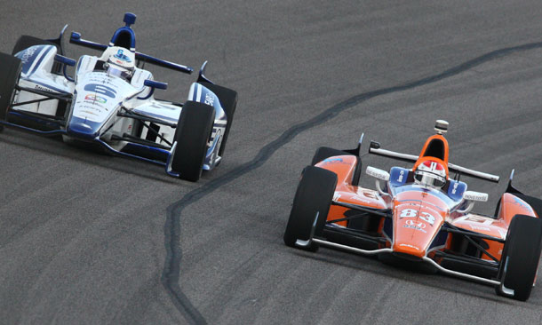 Sebastian Saavedra and Charlie Kimball at Texas Motor Speedway