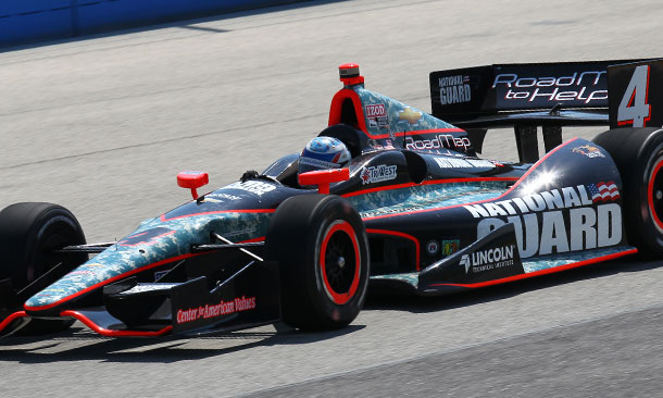 Ryan Briscoe in the Panther Car 4