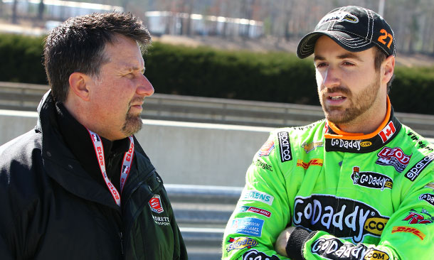 Michael Andretti and James Hinchcliffe