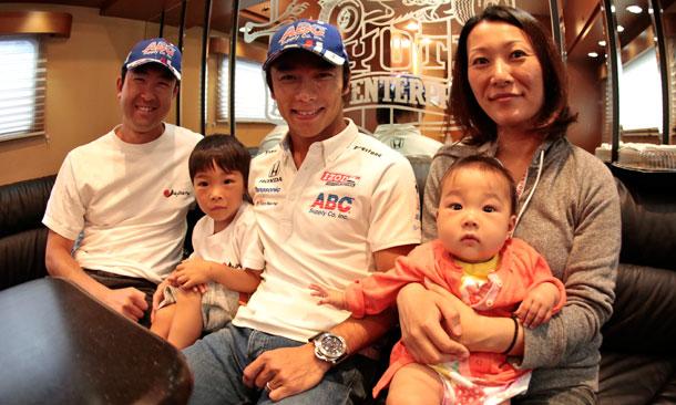 Takuma Sato with longtime fans