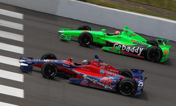 Marco Andretti and James Hinchcliffe at Pocono