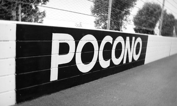 Pocono Raceway wall