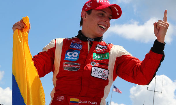 Gabby Chaves wins at Mid-Ohio