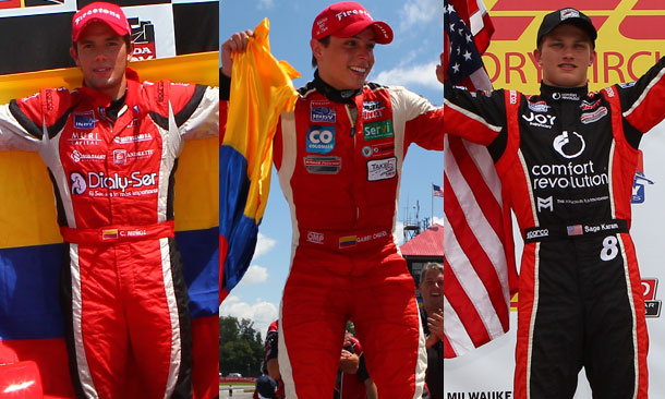 Top-3 Indy Lights Drivers Entering Baltimore