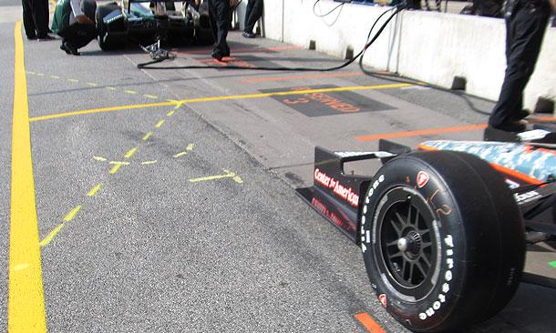 Pit Lane Lines painted at Baltimore