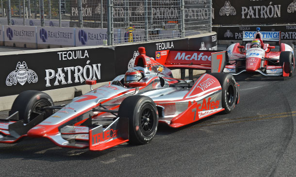 Sebastien Bourdais and Justin Wilson