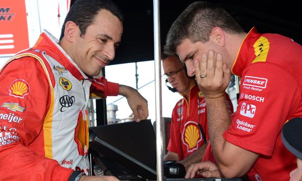 Helio Castroneves and Engineer
