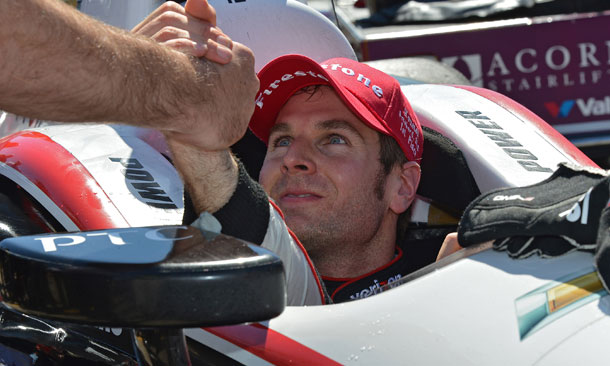 Will Power celebrates victory in Houston