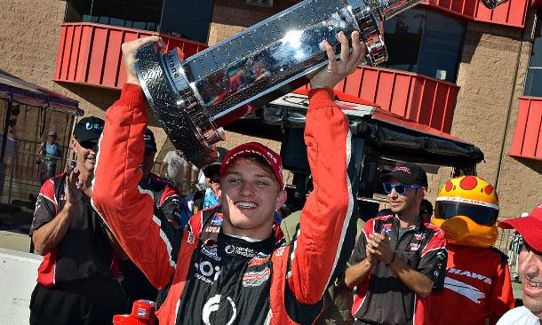 Sage Karam wins 2013 Firestone Indy Lights Championship