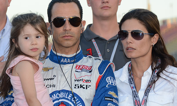 Helio Castroneves and Adriana Henao with daughter Mikaella