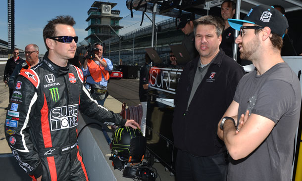 Kurt Busch and James Hinchcliffe