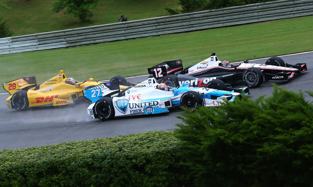 Ryan Hunter-Reay, James Hinchcliffe, and Will Power