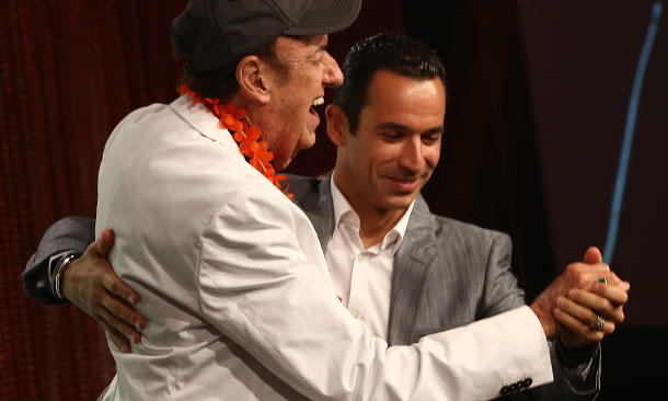Jim Nabors and Helio Castroneves