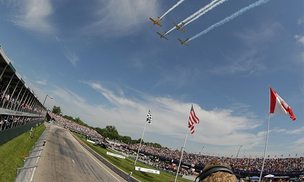 Flyover for the Chevrolet Indy Dual in Detroit