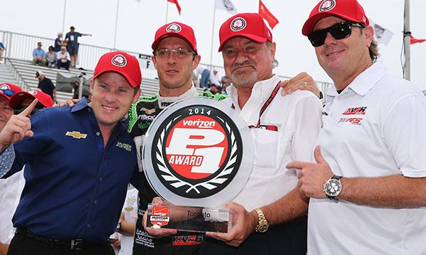 Sebastian Bourdais with KVSR Racing principles