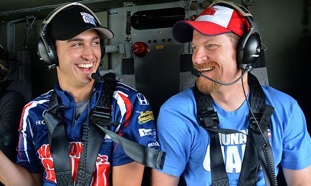 Graham Rahal and Dale Earnhardt, Jr.