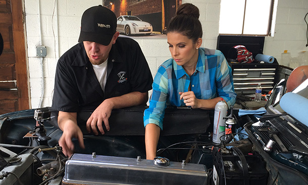 In the blog lauren bohlander gets a little help from for Garage tony auto