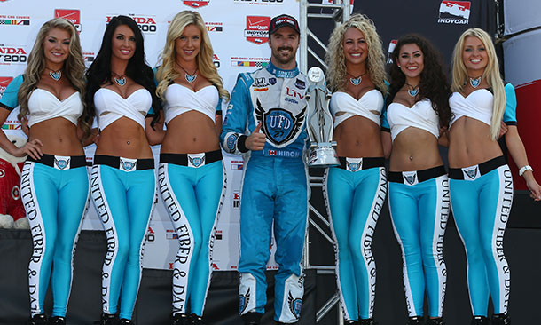 James Hinchcliffe and the UFD Girls