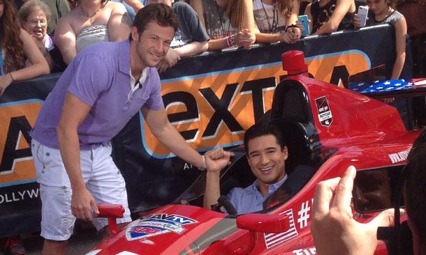 Marco Andretti and Mario Lopez