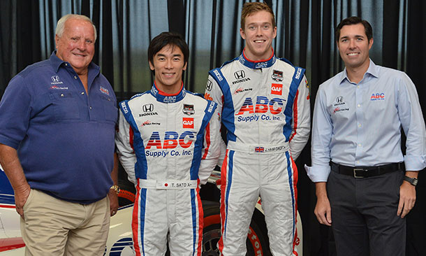 AJ Foyt, Takuma Sato, Jack Hawksworth, and Larry Foyt