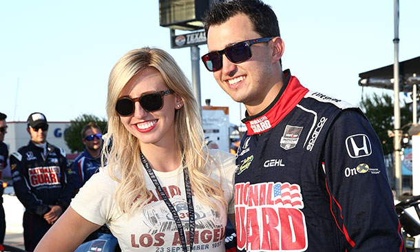 Graham Rahal and Courtney Force