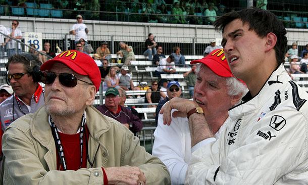 Paul Newman and Graham Rahal - 2008