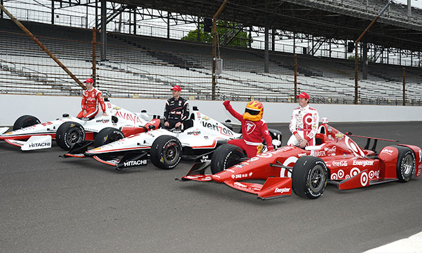 Scott Dixon, Will Power, and Simon Pagenaud