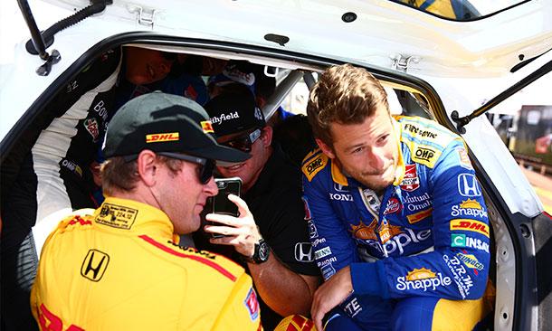 Honda Drivers Marco Andretti and Ryan Hunter-Reay